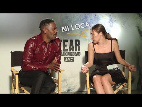Fear the Walking Dead  Alycia & Colman hablando Español Argentino