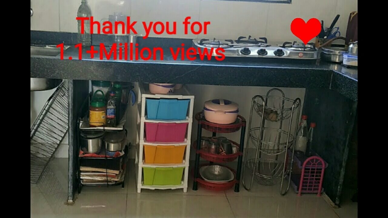 Kitchen Tour How To Organise Unfurnished Kitchen Without Cabinets