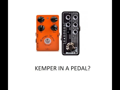 MOOER DOES $99 KEMPER STYLE PROFILING? Mooer 001 micro preamp pedal vs a REAL AMP? LISTEN!  001.