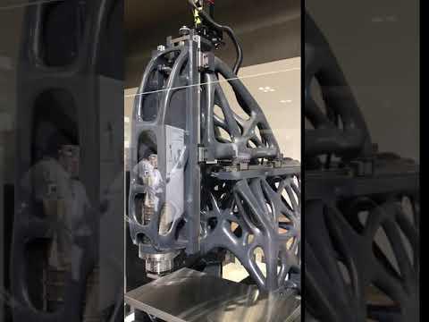 3D-Printed CNC machine frame from DMG-Mori
