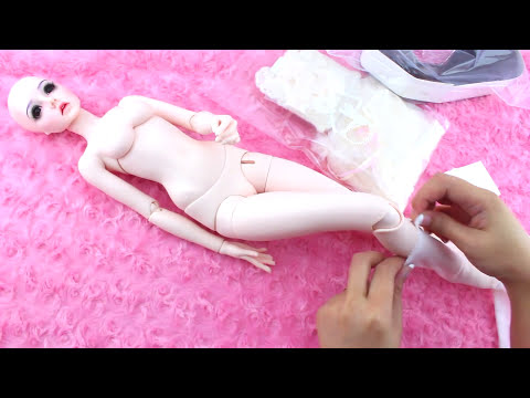 👌 Ball Jointed Doll BJD Stringing and DRESS-UP! ♥ DarlingDolls Video