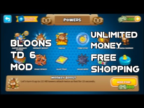 Bloons TD 6 (MOD, Free Shopping) | 1 3 0 Apk | bloons td 6 hack |money  glitch