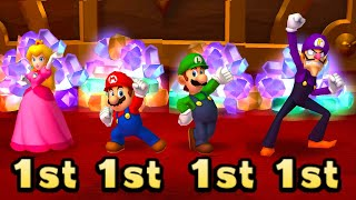 Mario Party Series MiniGames Peach Vs Mario Vs Luigi Vs Waluigi (Master CPU)