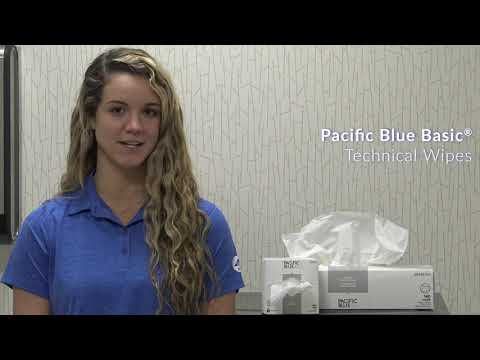 Pacific Blue Basic™ AccuWipe® Disposable Delicate Task Wipes