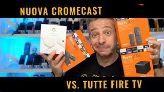 Amazon Fire TV e CUBE versus Chromecast con Google TV  Recensione e confronto