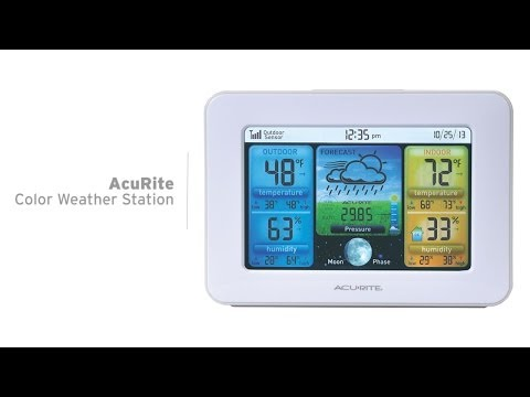 AcuRite Color Weather Station With Forecast, Temperature & Humidity 02038