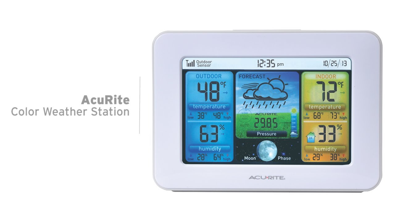 Acurite Color Weather Station With Forecast Temperature Humidity