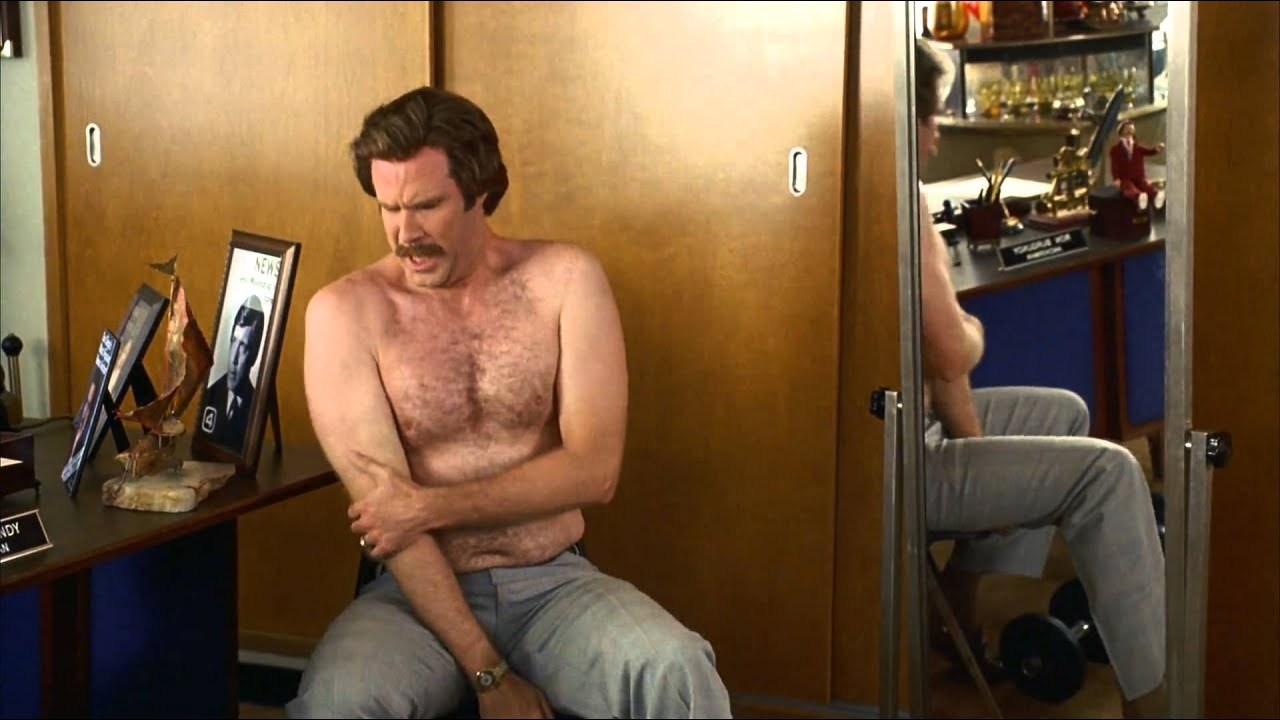 Anchormans Ron Burgundy Lifting Weights Deep Burn Youtube