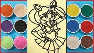 Đồ chơi trẻ em TÔ TRANH CÁT THỦY THỦ MẶT TRĂNG - Sailor Moon Sand Painting Toy For Kids (Chim Xinh)