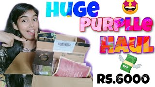 PURPLLE HAUL Skin Hair Makeup products Bristy D nath