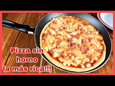 Pizza sin horno (en sartén) LA MÁS RICA Y MUY FÁCIL!!!