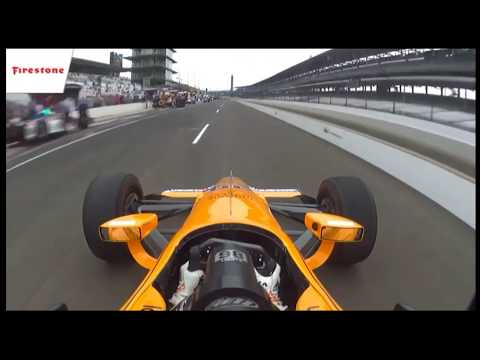 Indianapolis 500 Fernando Alonso Pit Stop Test  Fail