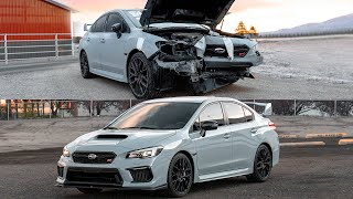 Rebuilding Totaled 2019 Subaru STI in 12 Minutes