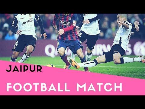 Football match in jaipur(red t shirt win ) sport#7