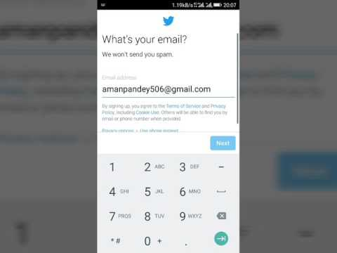 HOW TO CREATE TWITTER ACCOUNT IN MOBILE