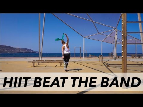 "HIIT ""BEAT THE BAND"" - full body fat burning workout with resistance band"