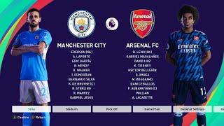 Pes 2021 Manchester City Vs Arsenal New Kits 2021 22 English Premier League Youtube