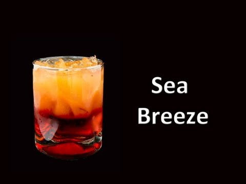 Sea Breeze Mixed Drink Cocktail Youtube