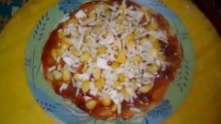 paneer & corn pizza