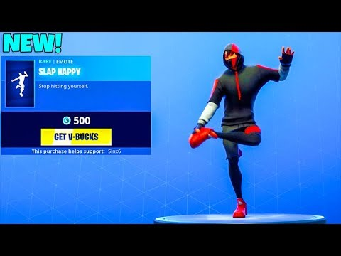 New Slap Happy Dance Emote New Item Shop Fortnite Battle