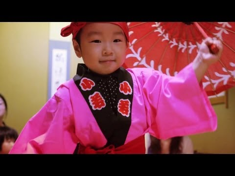 Traditional Japanese Song and Dance. Tsugaru Aiya Bushi on the Shamisen. 津軽あいや節
