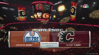 NHL 18 Gameplay Edmonton Oilers vs Calgary Flames