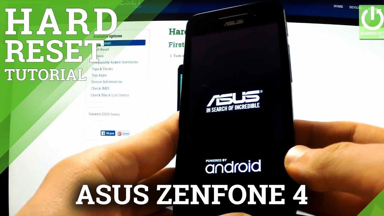 Hard Reset ASUS Zenfone 5 - HardReset info
