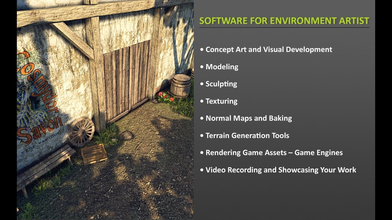 Software for Game Environment Artist
