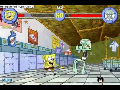 Spongebob Online Games FIGHT GAME   YouTube Spongebob Online Games FIGHT GAME