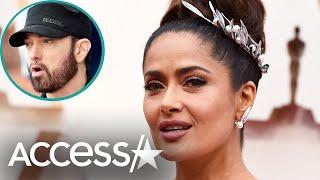 Salma Hayek 'Spilled Water All Over' Eminem at The Oscars