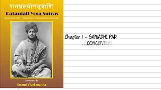 Chapter 1 Samadhi pad|Patanjali Yog Sutras| Commentary by Swami Vivekananda|