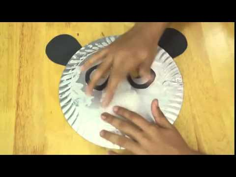 art and craft for children - How to make Panda Mask