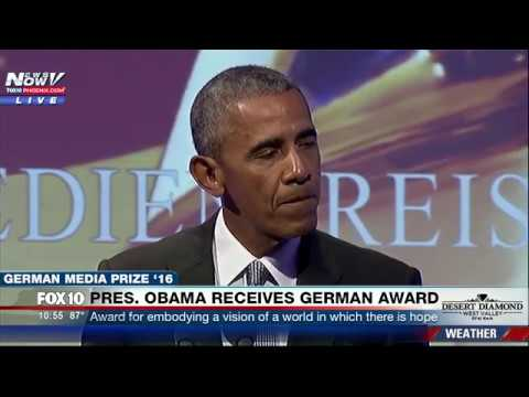 WATCH: Former President Obama FULL SPEECH After German Award (FNN)