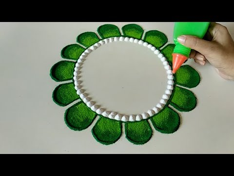 Easy and quick rangoli design thumbnail