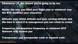 FSX and VATSIM tutorial Ep.8 IFR Clearance and Read Back