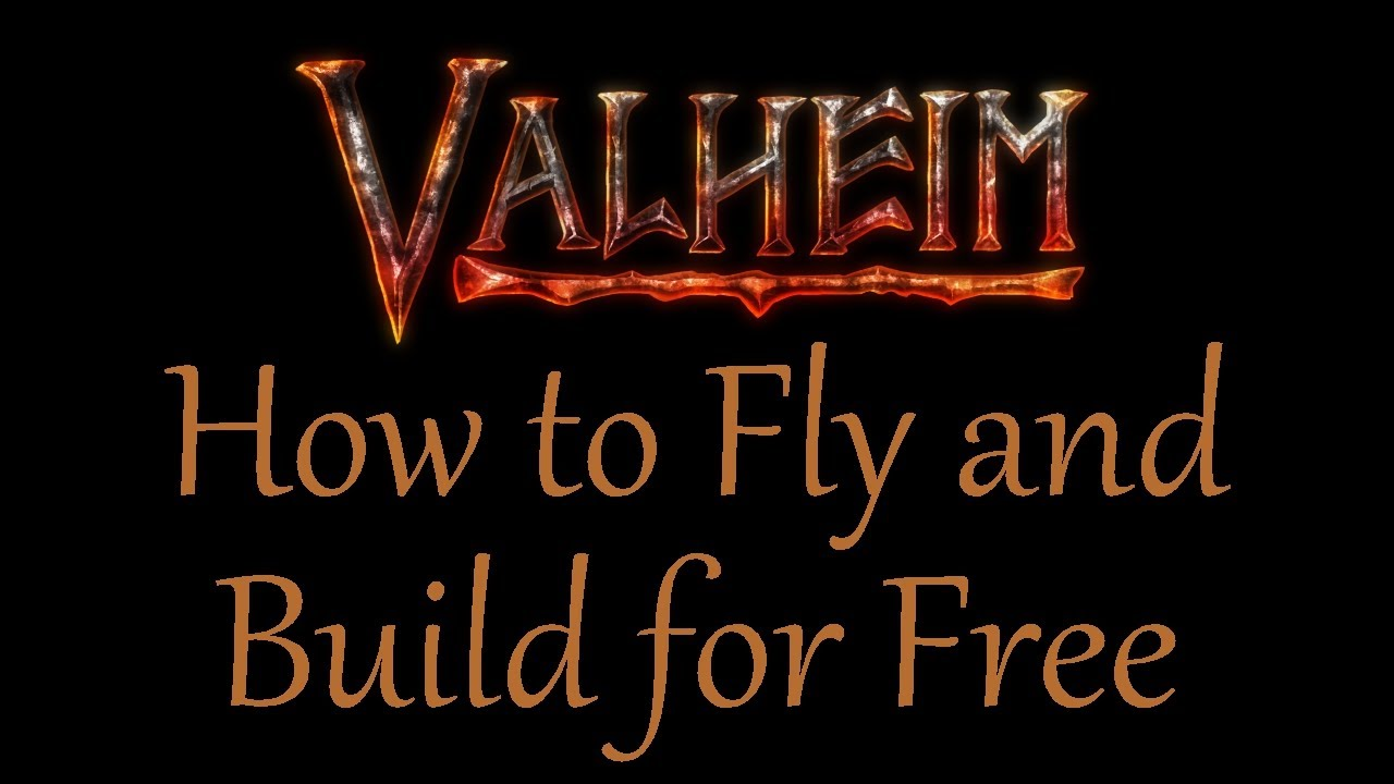 How to Fly and Build Without Materials with Valheim cheat codes Creative Mode