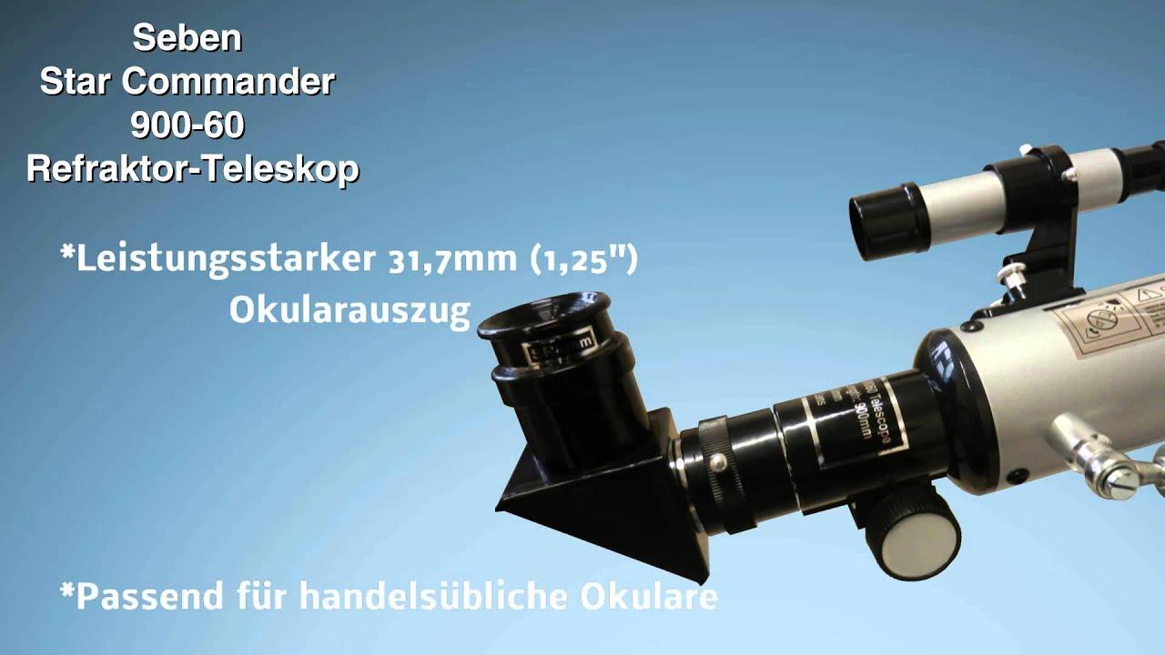 Seben refraktor teleskop star commander big pack youtube
