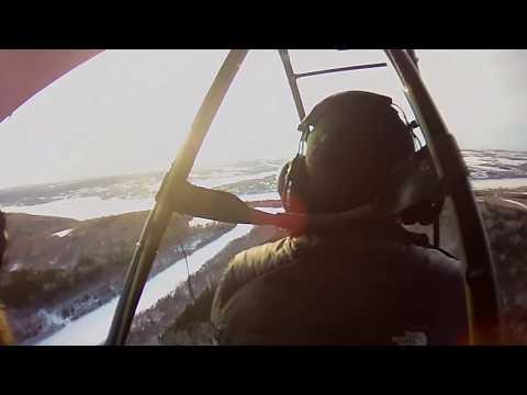 Ultralight Flying Lesson on Skis