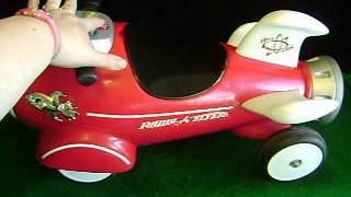 Radio Flyer~kids Retro Rocket~ride-on Toy~lights~sounds~complete & Working