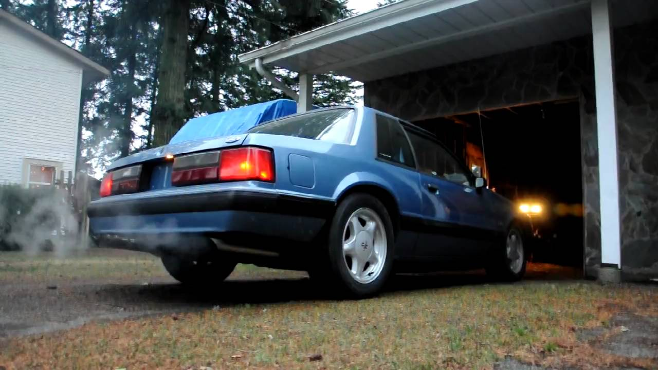 1989 Mustang 5 0 Exhaust Youtube