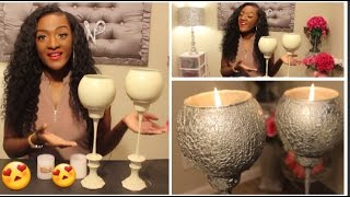 DIY Dollar Tree Textured Candle Holder Pillars | $3 EACH | Affordable Home Decor