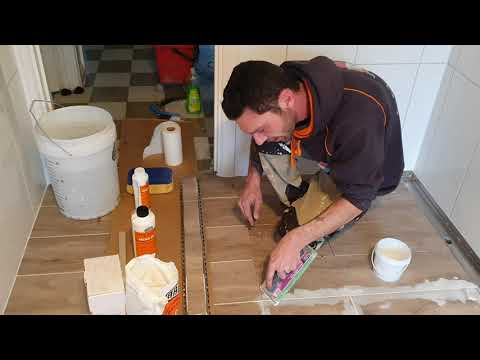 How to epoxy grout a shower floor