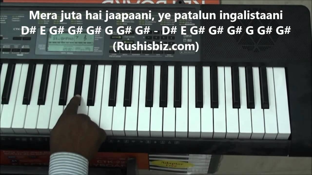 Mera joota hai japani mp3 karaoke songs | hindi karaoke shop.
