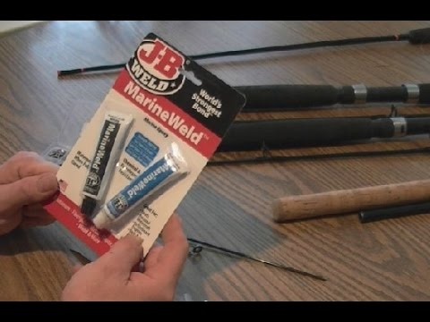 Fixing a Fishing Rod Tip with JB Marine Weld