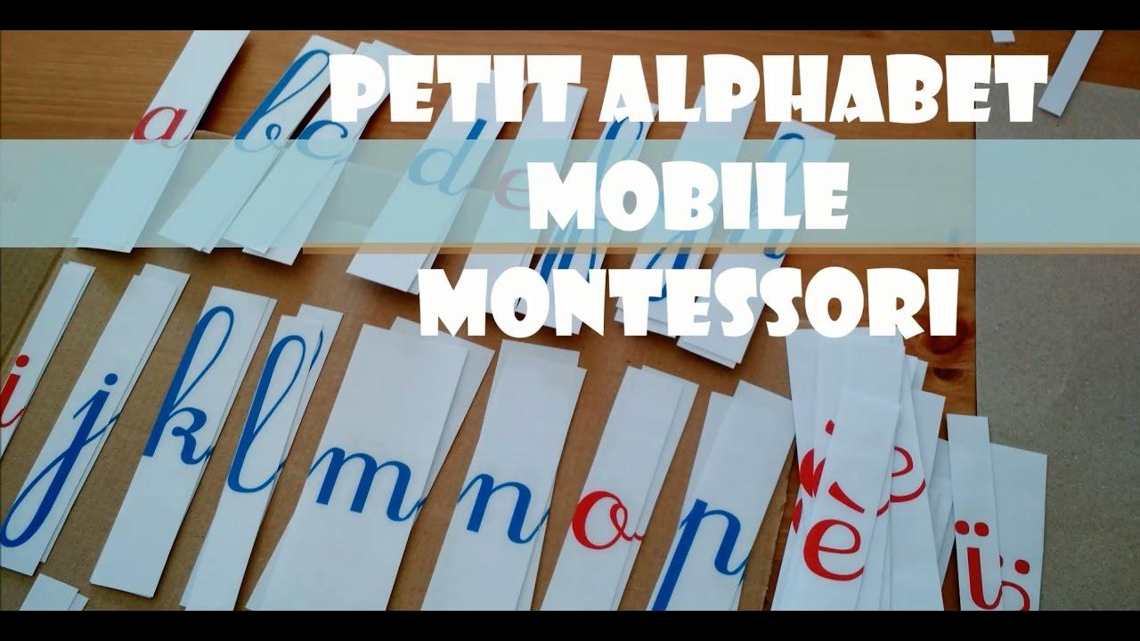 Gut bekannt DIY | 🔠 PETIT ALPHABET MOBILE MONTESSORI | Lecture et écriture  AK16
