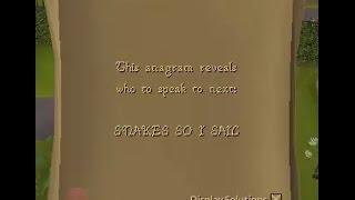 SNAKES SO I SAIL OSRS anagram clue