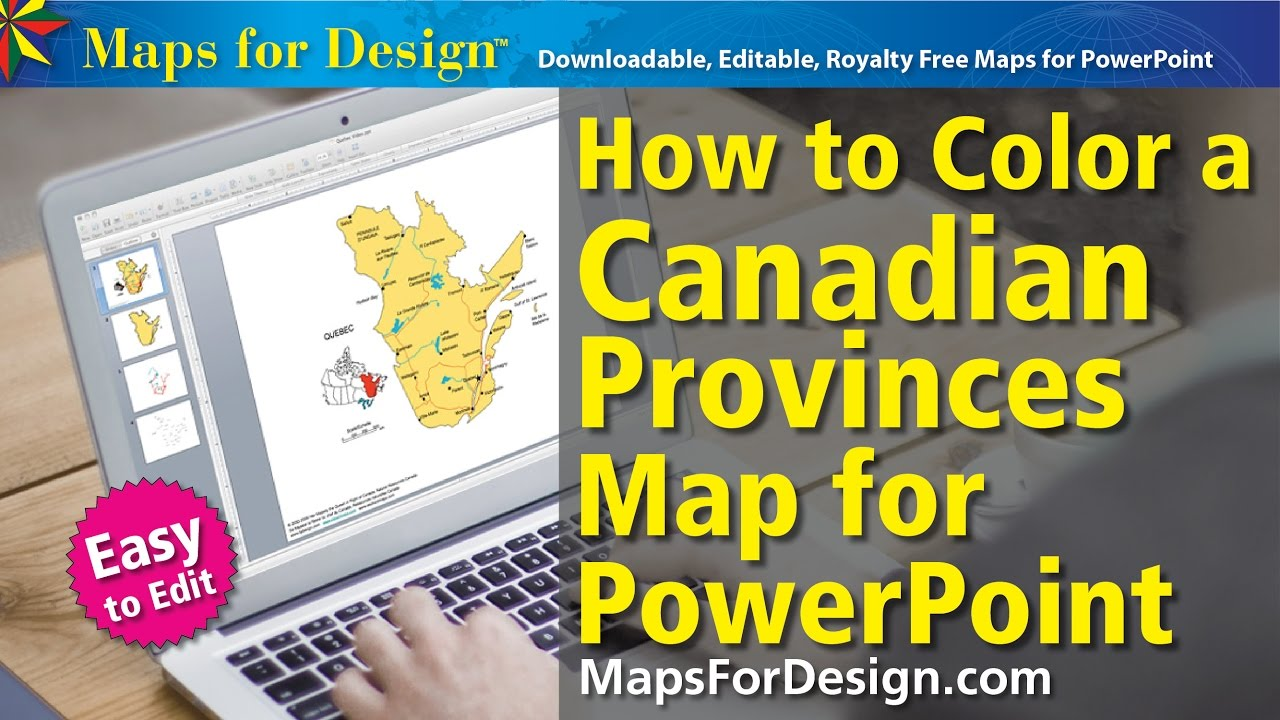 How To Color A Canadian Province Map For A PowerPoint Presentation - Map of united states for powerpoint presentation