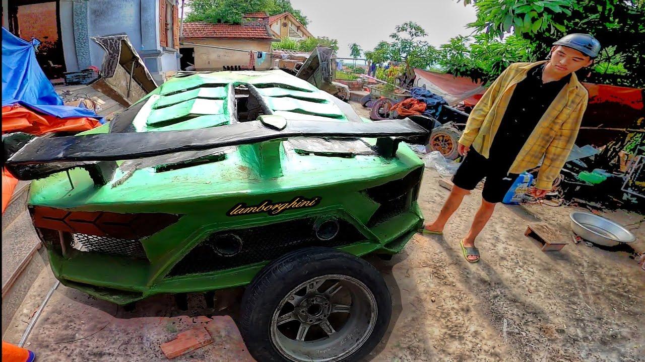 Homemade lamborghini aventador SVJ car for $ 500 - tự chế lamborghini ở Việt Nam
