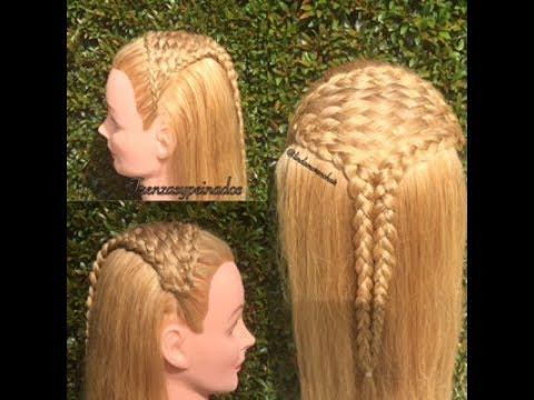 Peinado Tejido Canasta o Tapetillo Facil Para Niña – Easy Basket Weave Braid for Girl