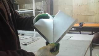 изготовление безопасного угла цокольного отлива